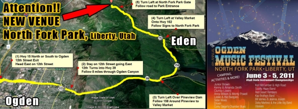 Our Venue Has Changed - 2011 Ogden Music Festival will be held at North Fork Park, Liberty Utah